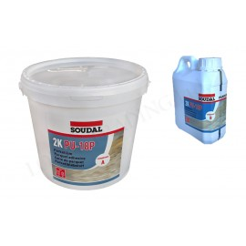 Two-component parquet adhesive